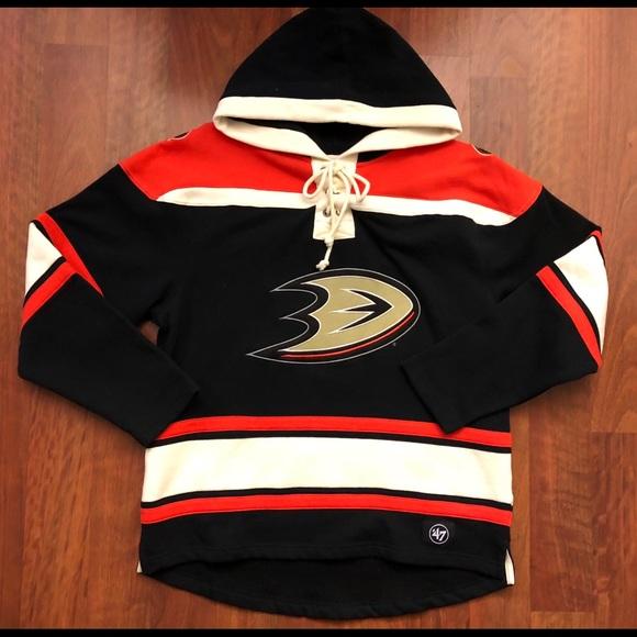 half off 6e2c5 da620 Anaheim Ducks Pullover Hoodie 47' Brand NWT